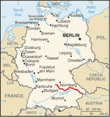 map of germany showing rivers altmühl
