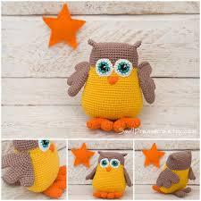 Woodland Animal Nursery Decor by Owl Toy Crochet Amigurimi Owl Plush Crochet Toy Stuffed Owl
