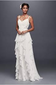 as is chiffon empire waist plus size wedding dress david u0027s bridal