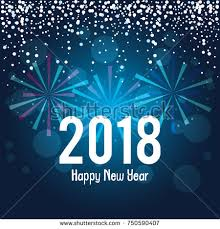 new years post cards happy new year 2018 postcard stock vector 750590341