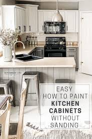 how to paint cabinets white without sanding easy how to paint kitchen cabinets without sanding
