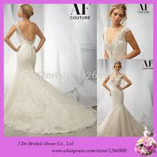wedding dress patterns free mermaid v neck lace heavy beading pearl cap sleeves low back