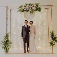 wedding backdrop singapore vintage copper wedding by of roses bridestory