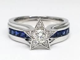 star wedding rings images European engagement ring diamond star blue sapphire bridge JPG