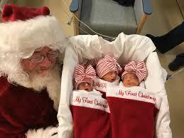 santa claus santa visits premature babies in nicu