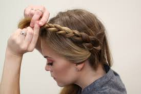 hair braid across back of head heidi braids