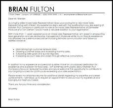 inside sales resume sample cover letter sales