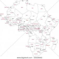africa map countries and capitals africa map countries capital vector photo bigstock