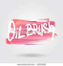 abstract oil painting brush frame hand drawn stock vector