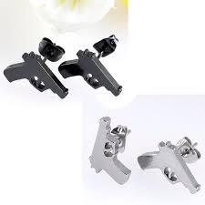 cool earrings for men aliexpress buy ayliss 1 pair hot cool gun men earrings
