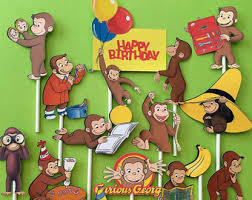 curious george birthday party curious george etsy