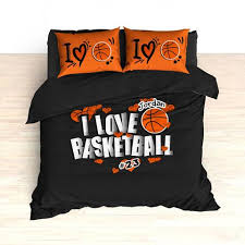 Personalized Comforter Set Personalized Basketball Bedding I Love Basketball Hearts Bedding