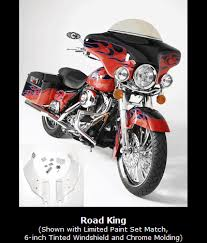 detachable fairings for harley davidson road kings from dragonfly