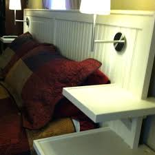 headboard with built in bedside tables king headboard with floating side tables nightstands built lights