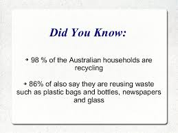 recycling facts about australia
