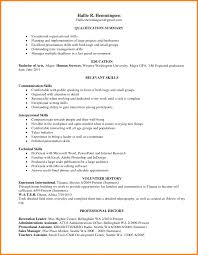 Resume Template With Skills Section Leadership Skills Resume Examples Resume Leadership Skills Cute