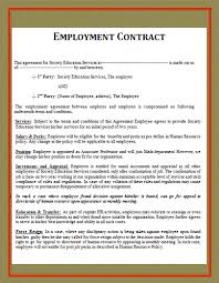 employment contract sample doc best resumes curiculum vitae and