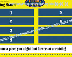 interactive bridal shower wedding shower family feud printable bachelorette