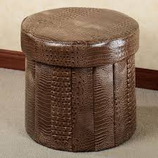 100 cowhide coffee table ottoman leather storage ottoman