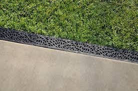 patio drainage channel plastic with grating mini nds