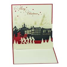 holiday pop up card new design 2016 for christmas 3d pop up card