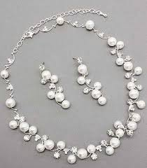 wedding jewelry wedding jewelry sets be equipped pearl necklace and pearl earrings