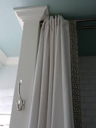 Hang Curtains From Ceiling Designs Furniture Fascinating Picture Of Small Bathroom Decoration Using