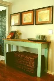 narrow entryway console table bench with storage underneath diy painted reclaimed wood long narrow