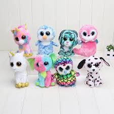 2017 ty beanie boos big eye plush toys soft multicolour dog