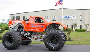 bigfoot monster truck visits local company running