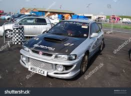 subaru modified northants england may 11 silver subaru stock photo 75228328