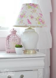 Shabby Chic Bedroom Lamps by A Pink White U0026 Gold Shabby Chic Glam Girls U0027 Bedroom Reveal