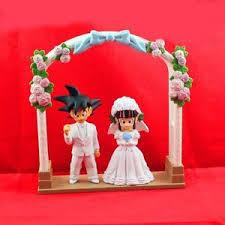 z cake toppers z goku gokou chichi wedding cake topper