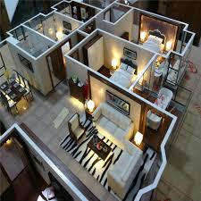 architectural scale model maker of house interior layout interior