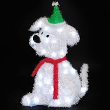 Outdoor Lighted Christmas Decorations Christmas Puppy Dogs Lighted Yard Displays Christmas Wikii