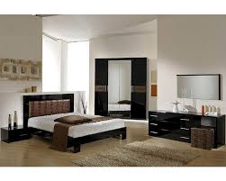 Italian Contemporary Bedroom Furniture Bedroom Modern Bedroom Set In Black Brown Finish Made Italy Sets