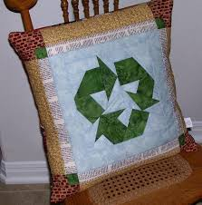 Upcycled Pillows - 5 ways to make recycled quilts for earth day
