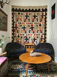 How To Hang Pictures On Wall by How To Hang Vintage Textiles On The Wall