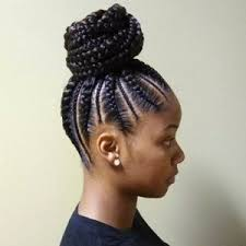 black bun hairstyles vissa studios lovely cornrows with weave hairstyles images hairstyles ideas