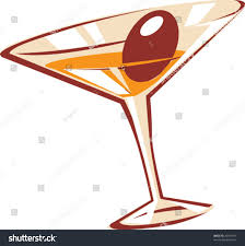 martini bianco glass cocktail glass vector illustration stock vector 26343197