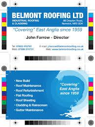 belmont roofing business card design wayne ansell design