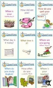 question words conversation cards