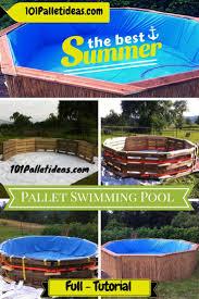 Pallet Furniture Outdoor Best 25 Pallet Pool Ideas On Pinterest Diy Swimming Pool Diy