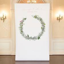 personalised wedding backdrop uk wreath personalized premium canvas backdrop backdrops