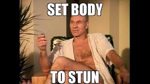 Patrick Stewart Memes - star trek the next generation beachwear boing boing boing bbs