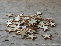 Small Tiny 50 Small Wood Stars Diy Rustic Table Decorations Christmas Flag