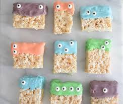 creepy monster rice krispie treats