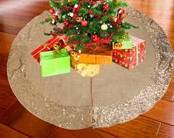 burlap tree skirt burlap christmas tree skirt sequin tree skirt satin tree