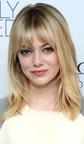 haircuts for round face thin hair 2015 shoulder length haircuts with bangs for round faces hair color