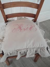 galette de chaise style campagne de chaise d u0027antan